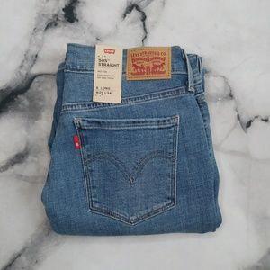 🆕Levi's 505 Mid-Rise Straight Leg Jeans Size 8L